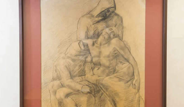 Photo of Mestrovic drawing (chapel)