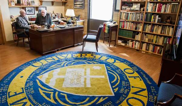Photo of Notre Dame presidents' rug